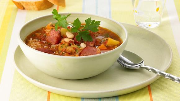 Scharfe Sauerkrautsuppe Rezept