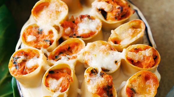 Cannelloni mit Kürbis und Mangold Rezept