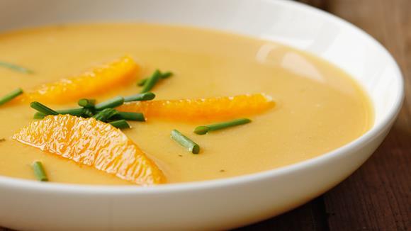 Kürbis-Ingwer-Suppe mit Orangen Rezept