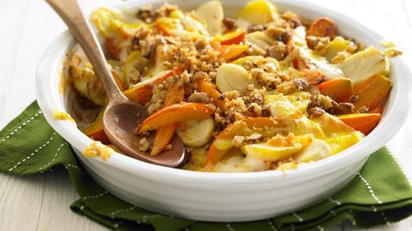 Gemüse-Auflauf mit Nusskruste Rezept
