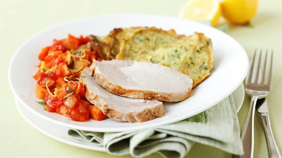 Schweinskarree Milanese mit Karotten, Sellerie und Petersilienwurzel Rezept