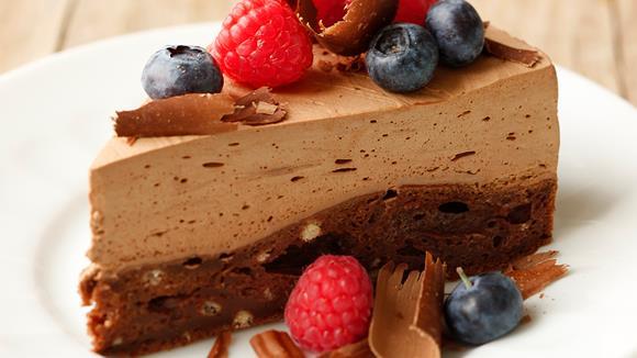 Schokoladenmousse-Tarte mit Beeren Rezept