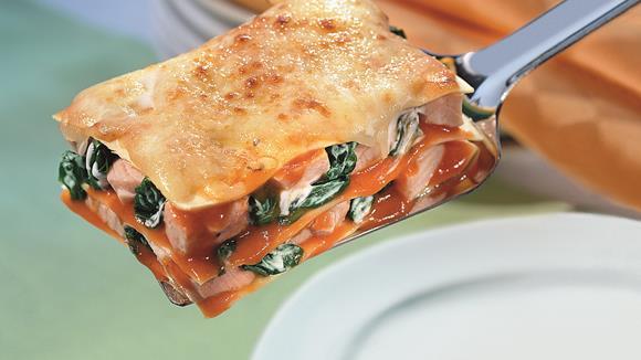 Lasagne mit Lachs und Blattspinat Rezept