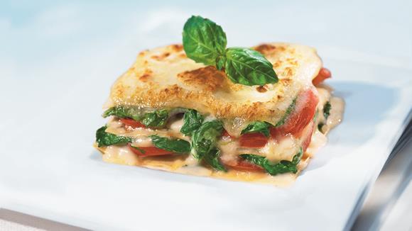 Tomaten-Spinat-Lasagne Rezept
