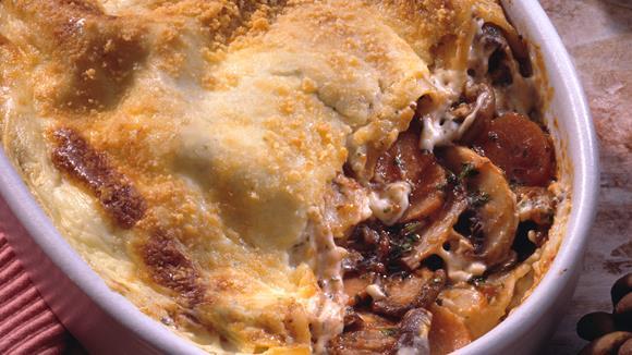 Schwammerl-Lasagne mit Karotten Rezept