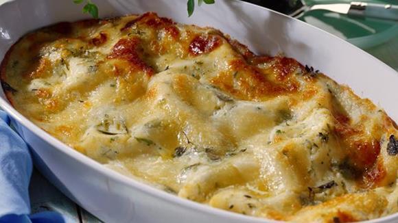 Lasagne Carbonara mit Zucchini und Rohschinken Rezept