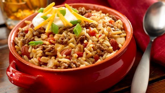 Mexikanisches Reisfleisch