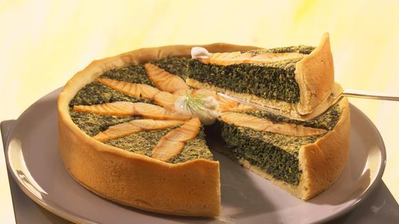 Spinat-Lachs-Quiche Rezept