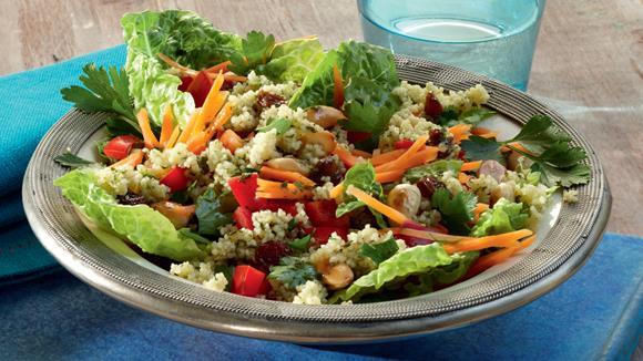 Couscous-Salat mit Rosinen