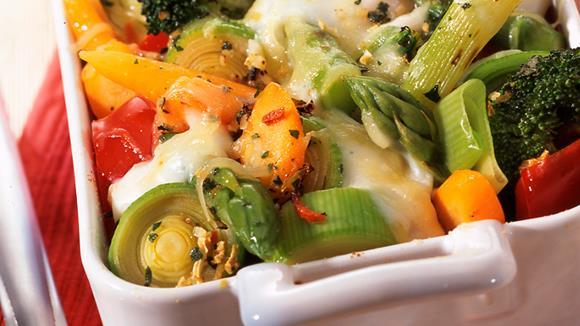 Gemüseauflauf mit Schafskäse Rezept