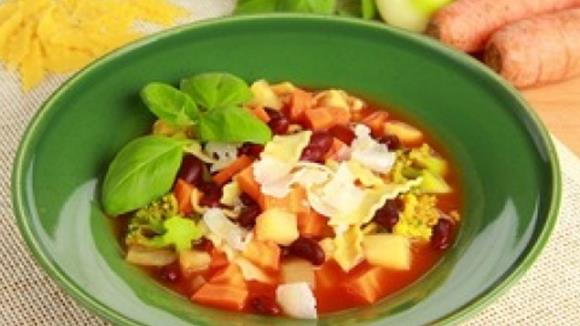 Gemüsesuppe mit Bohnen Rezept