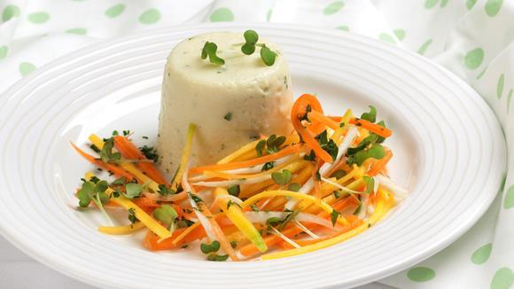 Kartoffel-Topfentörtchen mit Gemüsesalat