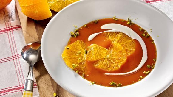 Tomatencremesuppe mit Orangen