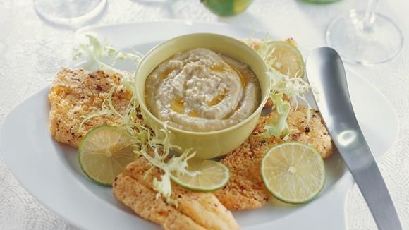 Limetten-Fischfilet mit Melanzanipüree Rezept