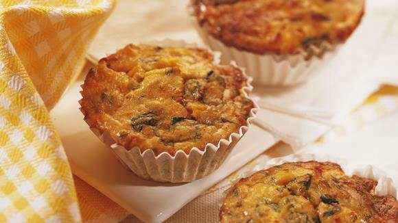 Kleine Mais-Spinat-Kuchen Rezept