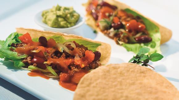 Chili-Tacos mit Guacamole Rezept