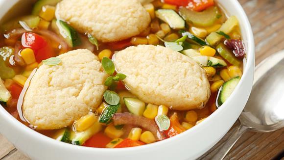 Gemüse-Suppentopf mit Grießnockerln Rezept