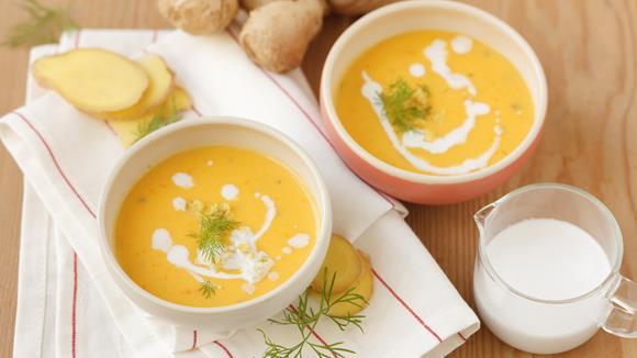 Kürbissuppe mit Ingwer & Kokosmilch Rezept