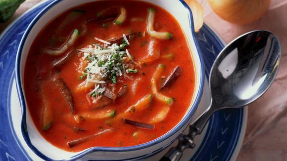 Italienische Gemüsesuppe mit Käse Rezept