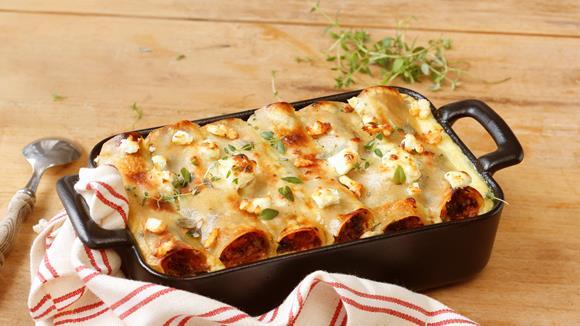 Überbackene Tomaten-Spinat Cannelloni Rezept