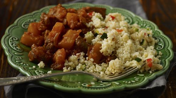 Couscous mit Kürbis- und Rindfleischeintopf Rezept