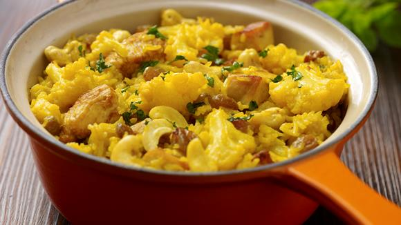 Hühner-Pilau mit Karfiol Rezept