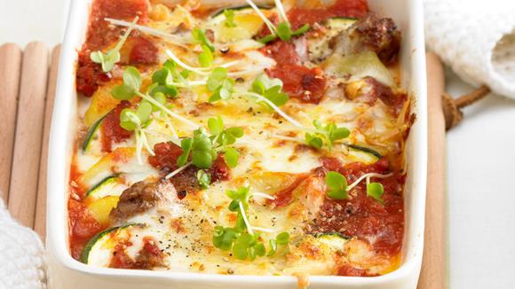 Kartoffel-Zucchini-Tomaten-Auflauf