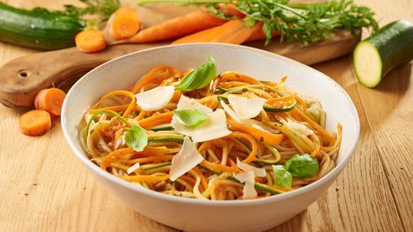 Karotten-Zucchini Spaghetti Rezept