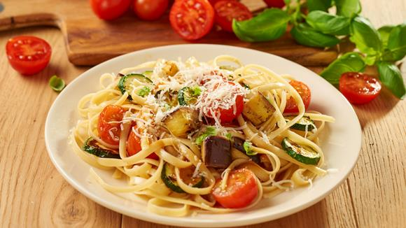 Linguini mit gegrilltem Gemüse Rezept