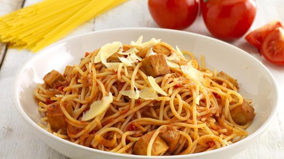 vegane spaghetti bolognese rezept knorr. Black Bedroom Furniture Sets. Home Design Ideas