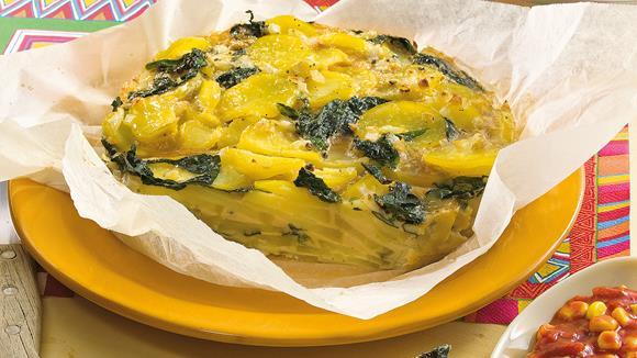 Kartoffel-Spinat-Tortilla Rezept