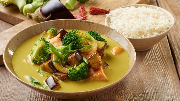 Thai Green Curry mit Lachs