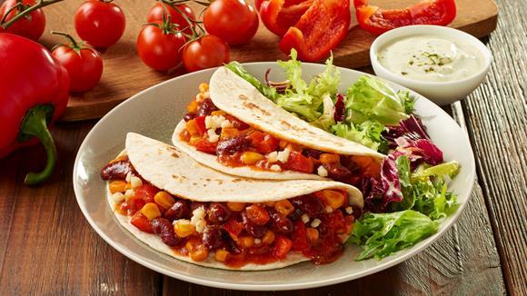 Enchiladas mit Bohnen