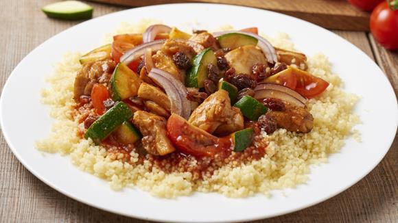 Hühner-Gemüse Couscous Rezept