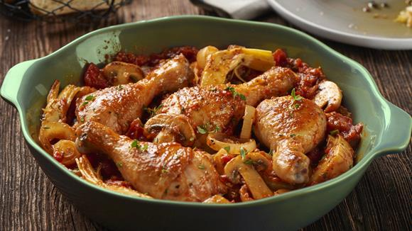 Huhn Toskana mit Pilzen Rezept