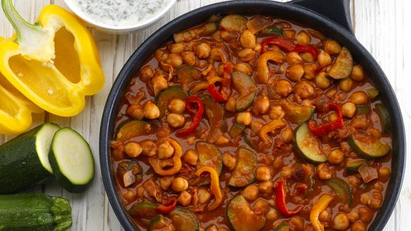 Gemüse-Kichererbsen Pfanne Rezept