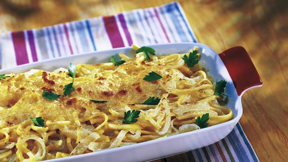 Käsespätzle mit Tomatenwürfeln Rezept
