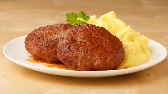 Faschierte Butterschnitzel vom Kalb mit Kartoffelpüree