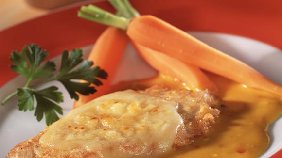 Putenschnitzel in Estragon-Pfeffer-Sauce mit Spätzle