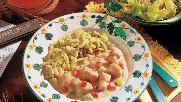 Pikantes Truthahn-Bierfleisch mit Paprika
