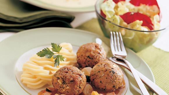 Polpette mit Schwammerln und Schinken-Gemüsesauce Rezept