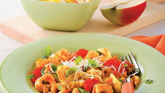 Überbackene Tortellini mit Paprika Rezept