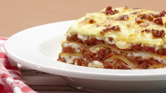 Lasagne al forno mit Spinat