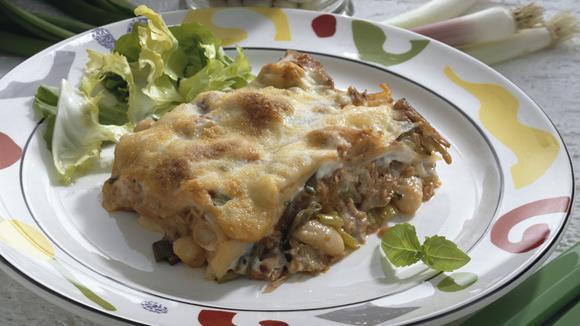 Thunfisch-Lasagne mit Oliven und Broccoli