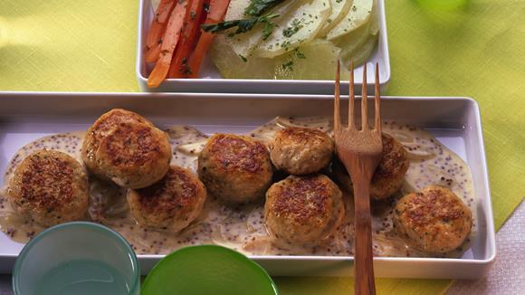 Schinken-Käselaibchen mit Sesam Rezept