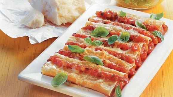Gefüllte Cannelloni mit Faschiertem, Karotten und Zeller Rezept