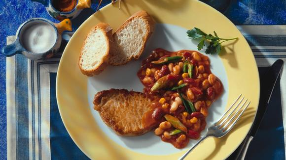 Steak auf Mexikanische Art mit Pfefferoni und Mais Rezept