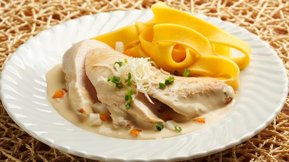 Hühnerfilets mit Gemüse-Krensauce