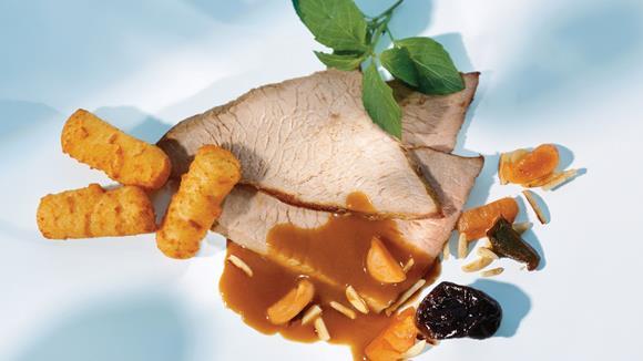 Schweinsmedaillons mit Gorgonzola-Rahmsauce
