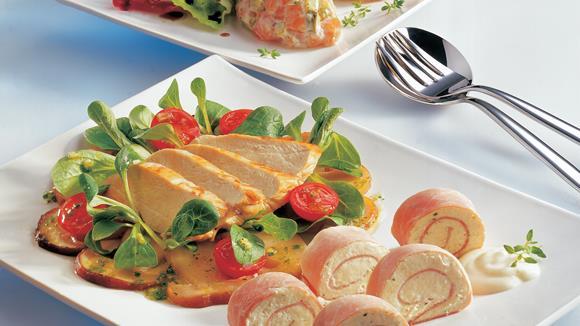 Steinpilz-Vogerlsalat mit gebratener Hühnerbrust Rezept